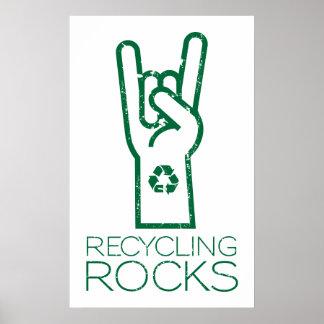 Tag der Erde Recyceln der Felsen Plakat
