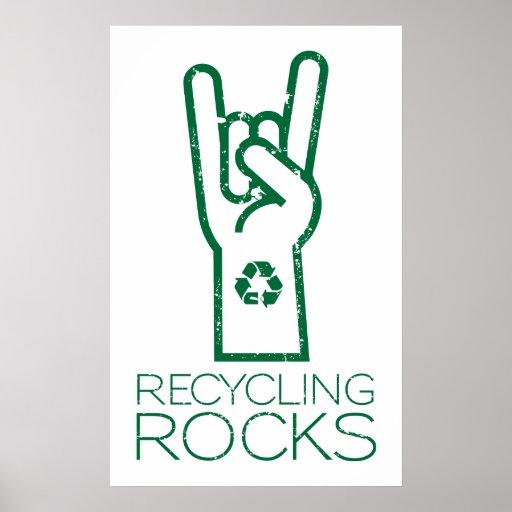 Tag der Erde: Recyceln der Felsen! Plakat