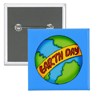 Tag der Erde-T-Shirts und Geschenke Quadratischer Button 5,1 Cm