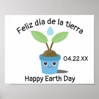Tag der Erde-zweisprachiges spanisches Plakat
