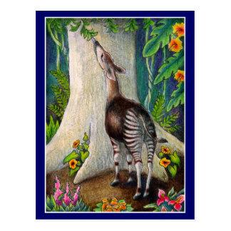 Tag der Erdeokapi-Regenwaldpostkarte Postkarte