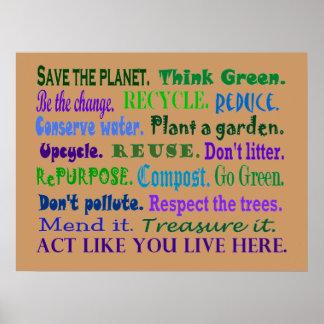 Tag der Erdeplakat Poster
