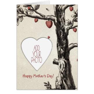 Tag der Liebe-Baum-der glückliche Mutter Grußkarte