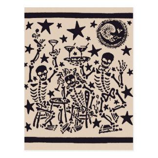 Tag der toten Fiestas Partei-Durchmessers Muertos Postkarte