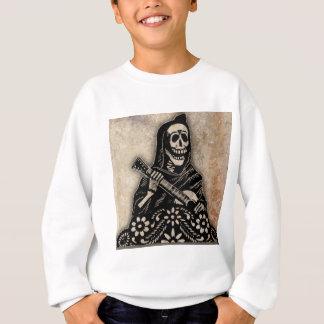 Tag der toten Gitarre, die Skelett spielt Sweatshirt