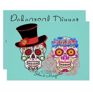 Tag der toten Hochzeits-Paar-Party Einladung