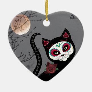 Tag der toten Katze Keramik Herz-Ornament