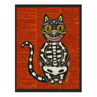 Tag der toten Katze Postkarte