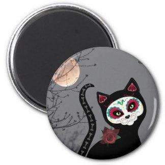 Tag der toten Katze Runder Magnet 5,7 Cm