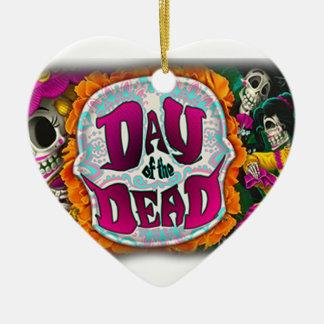Tag der Toten Keramik Herz-Ornament