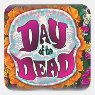 Tag der Toten Quadratischer Aufkleber