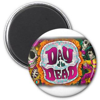Tag der Toten Runder Magnet 5,7 Cm