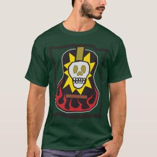 Tag der toten Schädel Flam Gitarren-Front und der T-Shirt