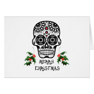 Tag der toten Schädel-Weihnachtskarten Karte