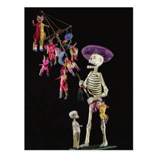 Tag der Toten: Spielzeug-Hausierer, von Oaxaca Postkarte