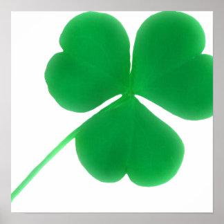 Tag des irischen grünen Kleeblatt-einfaches | St Poster