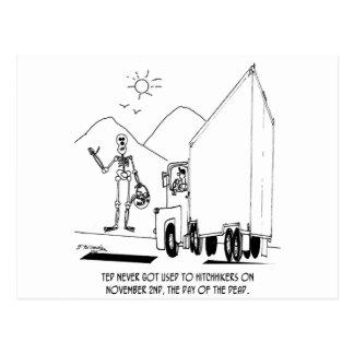 Tag des toten Cartoon 7392 Postkarte