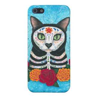 Tag des toten Katzen-Zuckerschädel-Kunst iPhone iPhone 5 Cover