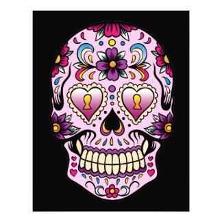 Tag des toten Zuckerschädel-Rosas Kunst Photo