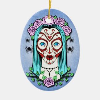Tag des toten Zuckerschädels Keramik Ornament