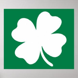 Tag Irland Kleeblatt-St. Patricks Poster