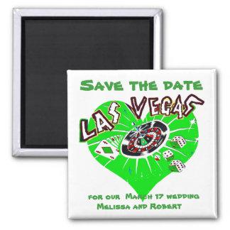 Tag Las- VegasSave the Date St. Patricks Quadratischer Magnet