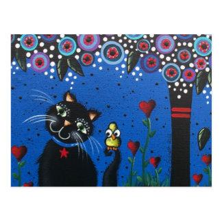 Tag Loris Everett_ der toten, schwarzen Katze, Postkarte