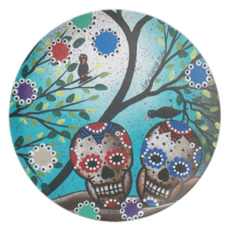 Tag Loris Everett_ des Dead_Mexican_Skulls_DOD Flacher Teller