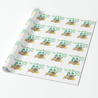 Tag Pekingese St. Patricks Geschenkpapier