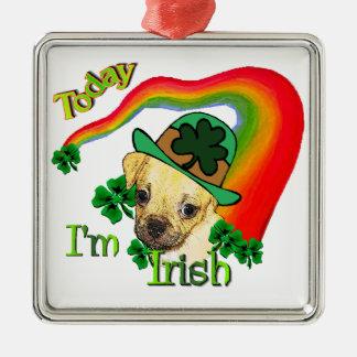 Tag Puggle St. Patricks Silbernes Ornament