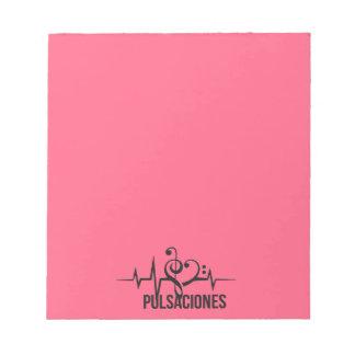 Tag Pulsschläge Pink Notizblock