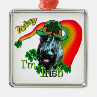 Tag Riesenschnauzer-St. Patricks Silbernes Ornament