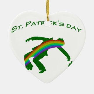 Tag St. Patricks Keramik Ornament