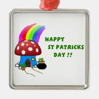 Tag St. Patricks Silbernes Ornament