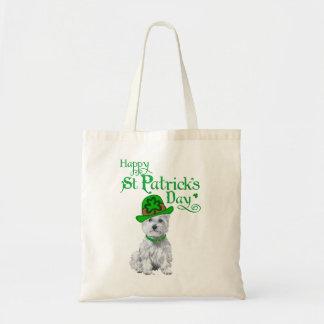Tag Westie St. Patricks Tragetasche