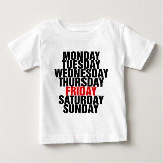 Tage der Woche Baby T-shirt