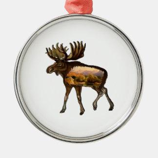 Tage vom wilden silbernes ornament