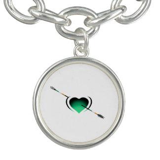 Tagesherz Liebe I Irlands St Patrick Charm Armband