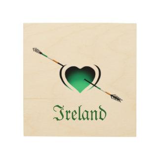 Tagesherz Liebe I Irlands St Patrick Holzleinwand