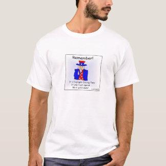 Tageslicht Zeit-Cartoon-T - Shirt rettend