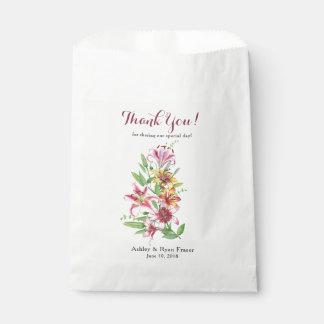 Tageslilien-Tiger-Lilien-Hochzeit danken Ihnen Geschenktütchen