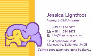 Kinderbetreuung Visitenkarten Zazzle De