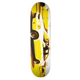 Tagesnachtauto-Reihe. Plattform eine Bedruckte Skateboarddecks