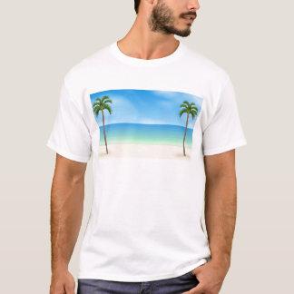 Tagesstrand-Szene: T-Shirt
