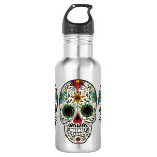 Tagestote Zuckerschädel-Edelstahl-Wasser-Flasche Edelstahlflasche