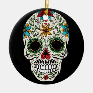 Tagestote Zuckerschädel-Keramik-Kreis-Verzierung Keramik Ornament