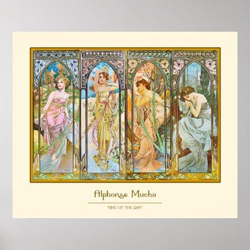 Tageszeit, Alphonse Mucha Plakat