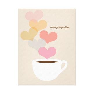 Tägliche Bliss-Kaffee-Liebe-Kunst-Leinwand Galerie Gefaltete Leinwand