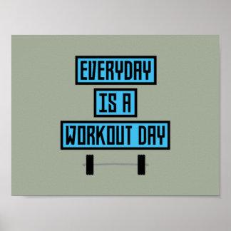 Täglicher Trainings-Tag Z852m Poster