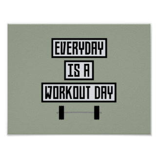 Täglicher Trainings-Tag Zge5d Poster